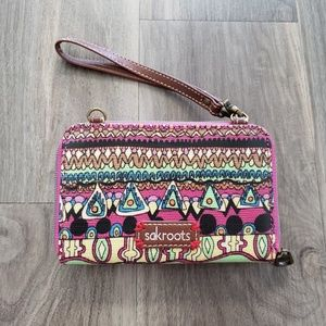 Sakroots Multi-Color Patterned Wristlet